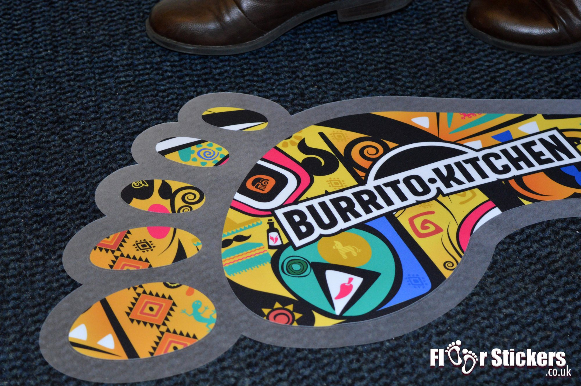 Burrito kitchen floor sticker