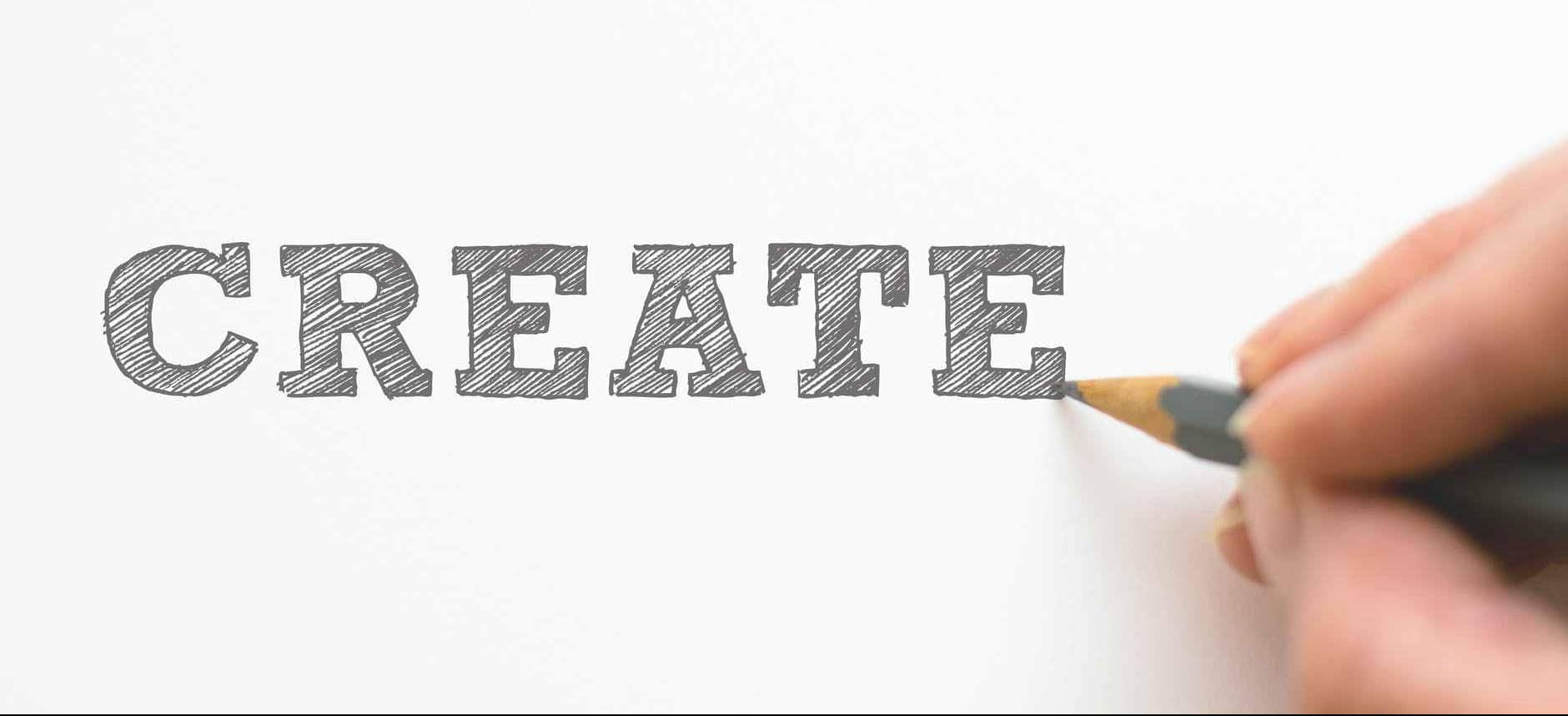 Typography - the word create