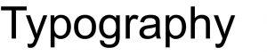 Good colour typography