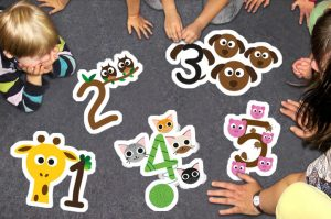 Number Counting Animals Floor Stickers
