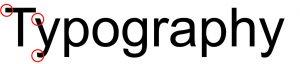 san serif typography