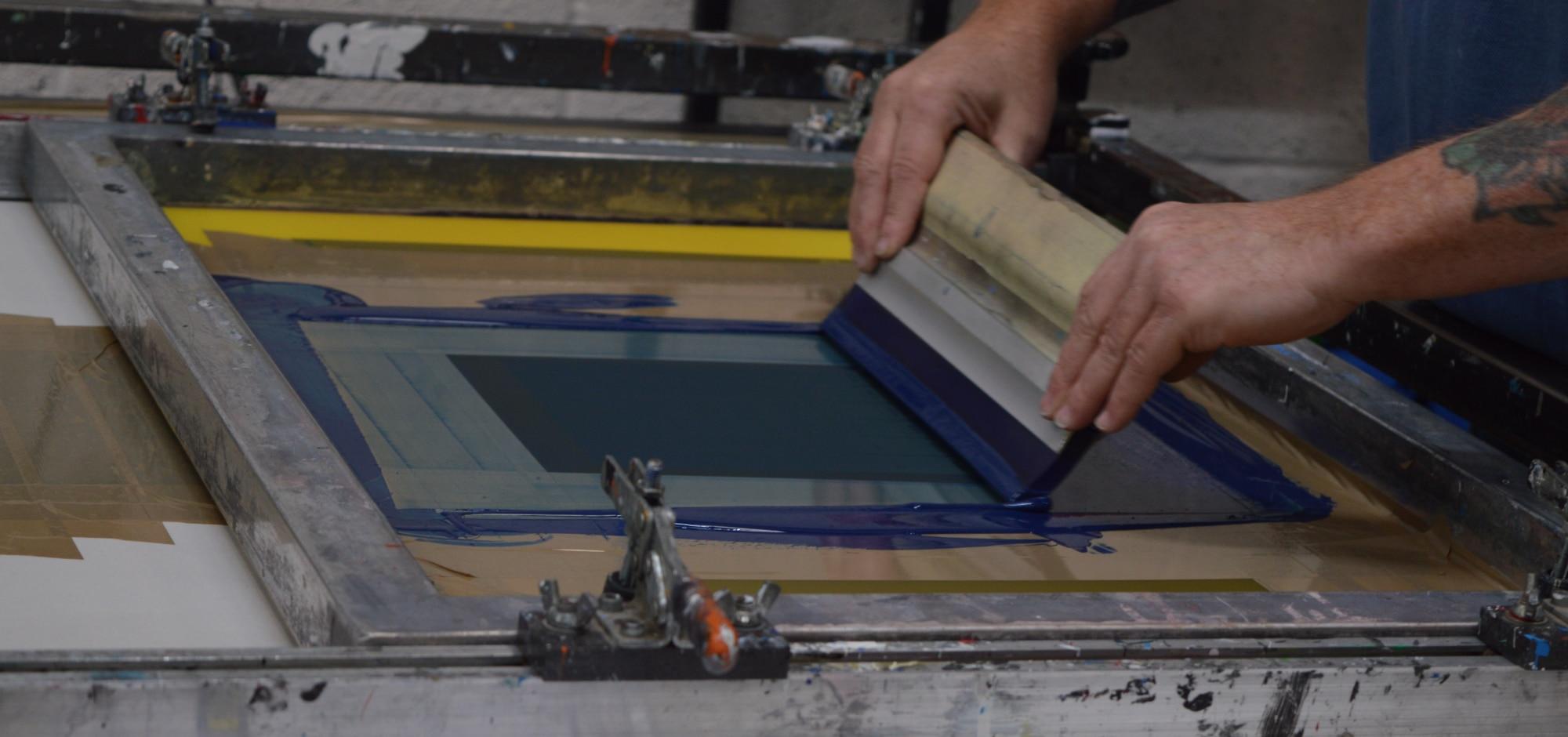 screen printing the progress