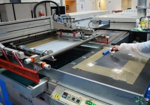 Traditional surface screen printing