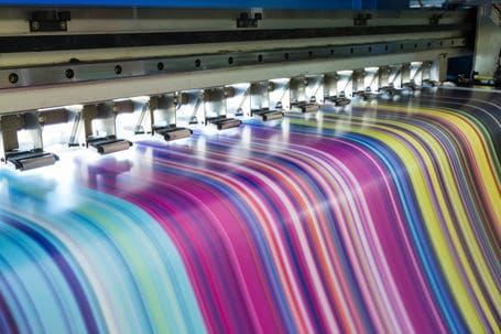 Different colours being printed