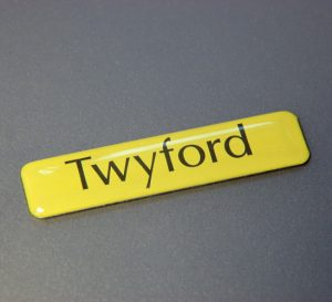 40mm x 10mm rectangle gel badge labels