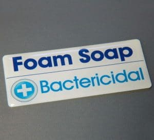 60mm x 30mm rectangle gel badge