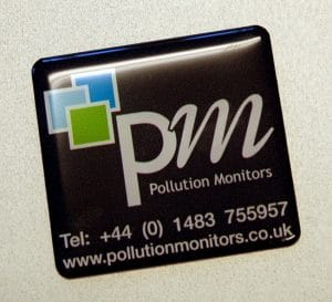 75mm x 75mm square gel badge labels