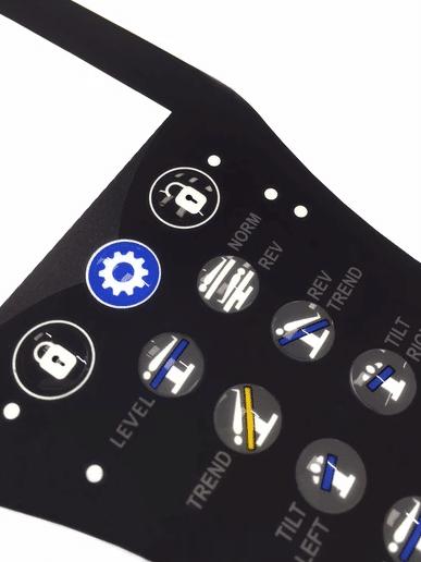 graphic overlay keypad