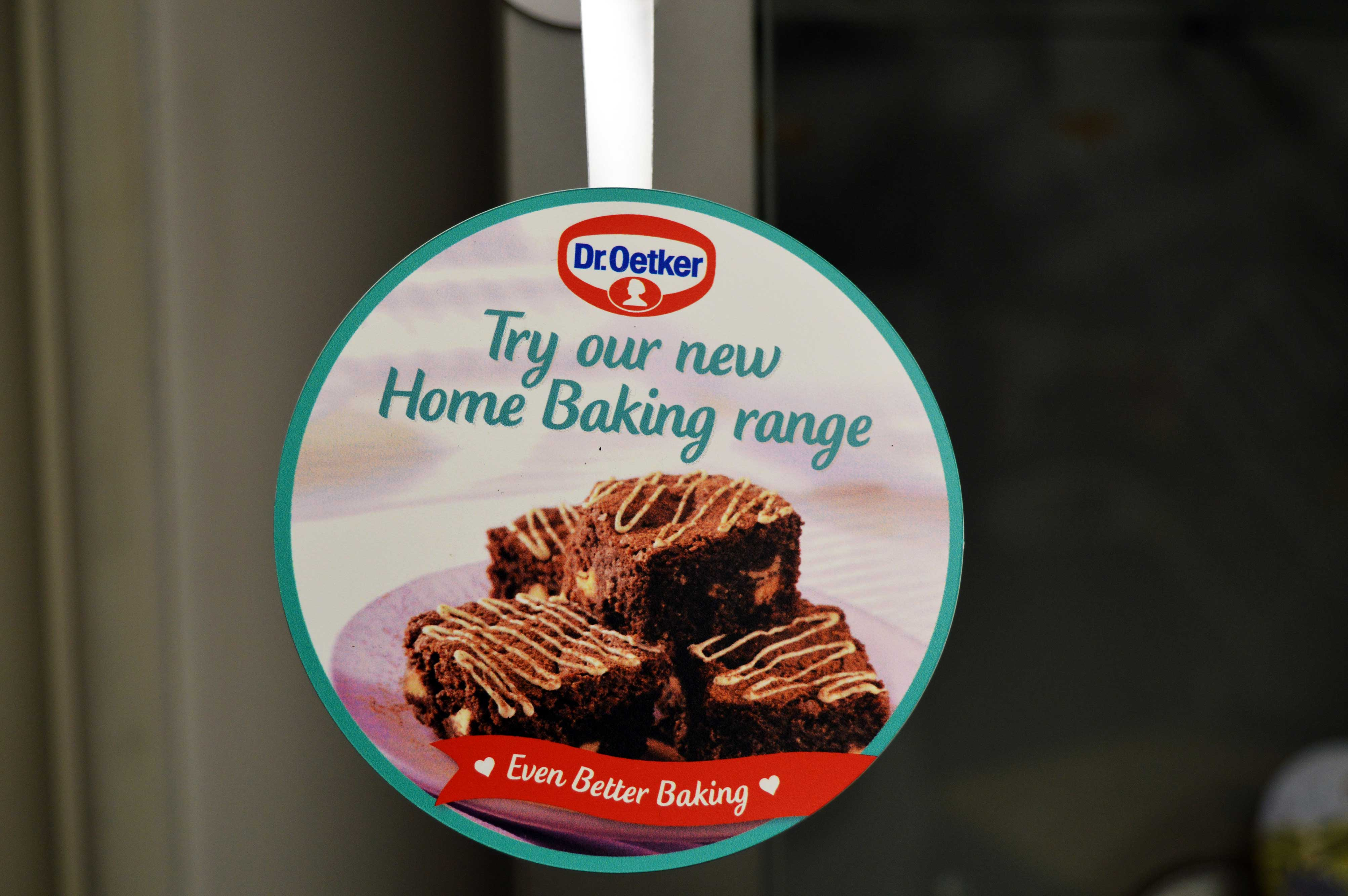 Shelf Wobbler for Dr Oetker