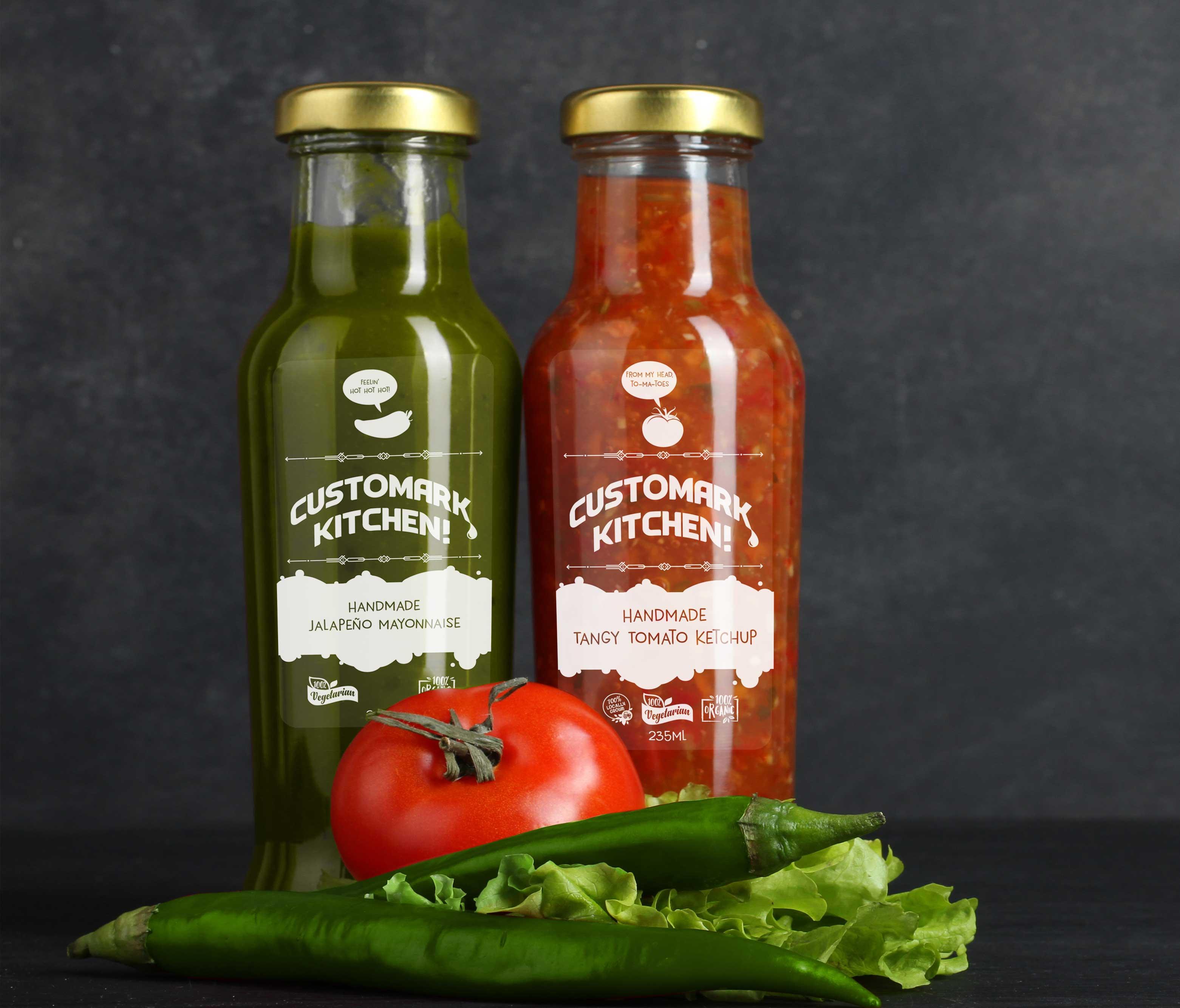Handmade Sauce Bottle Labelling