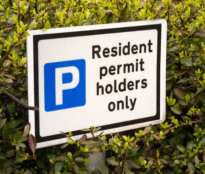 Parking Permit Sticker Signage