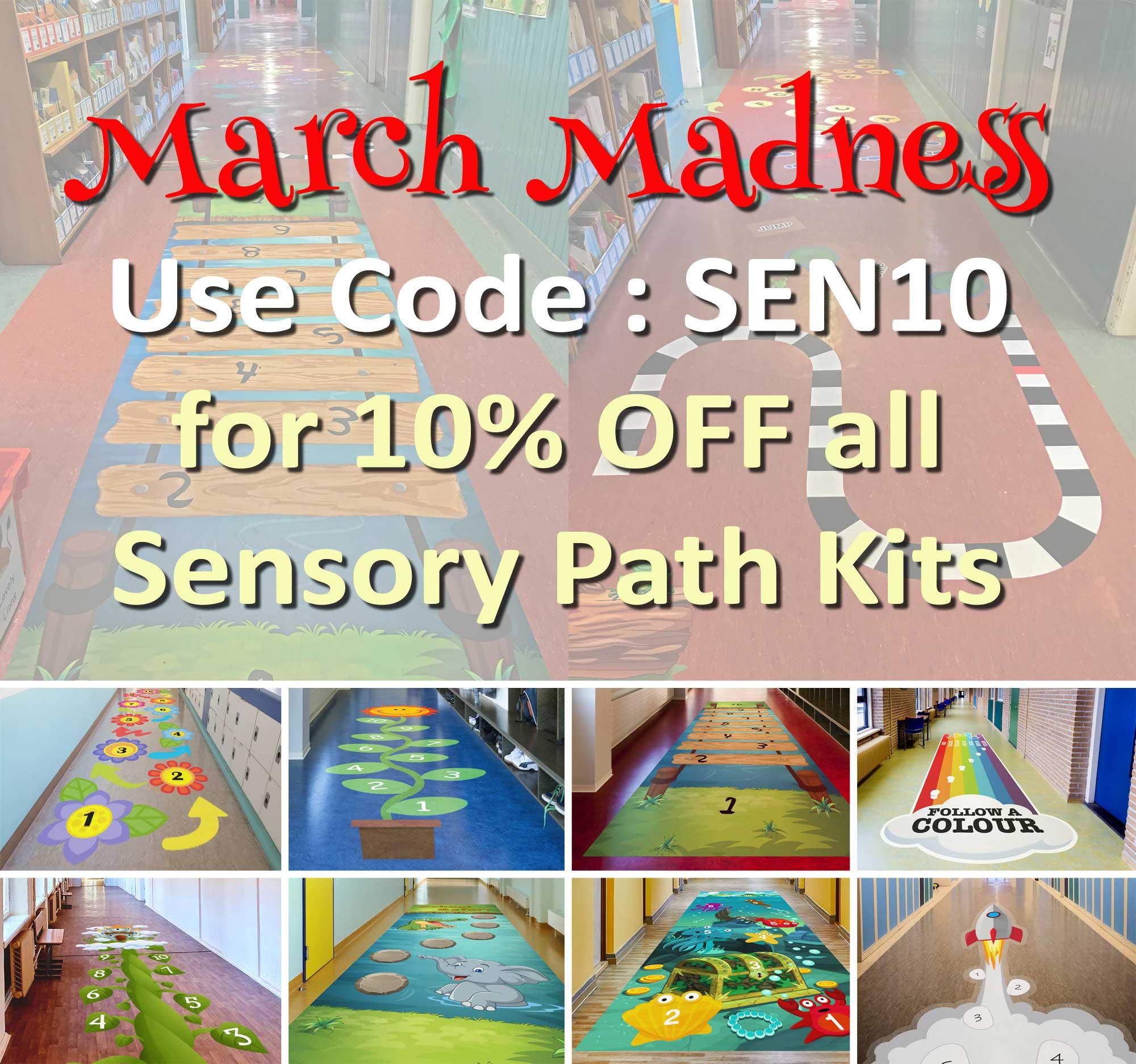Sensory Pathway Floor Sticker Kits